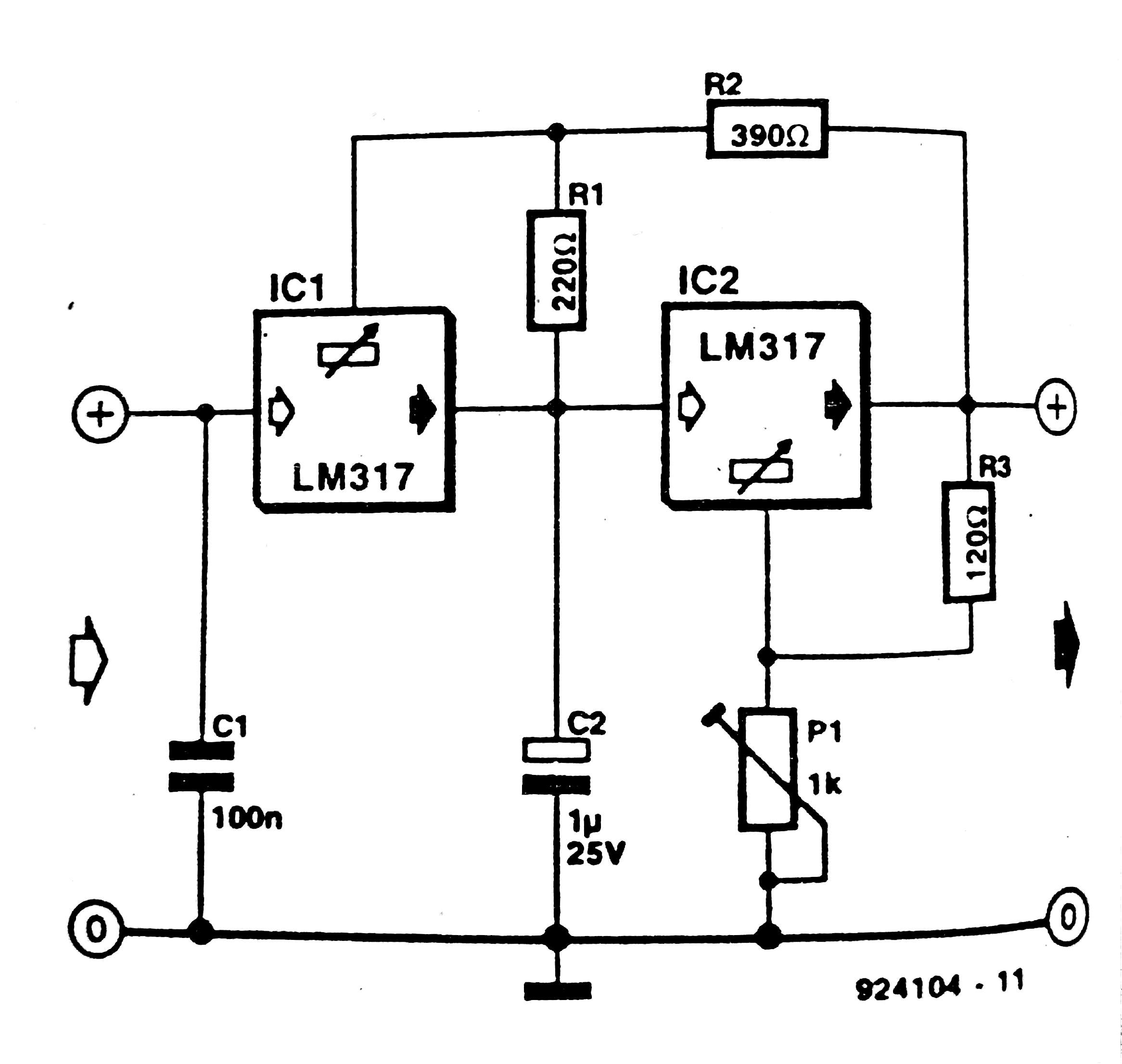 Lm317 Voltage Regulator Circuit Diagram Regulators
