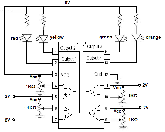 lm339 quad voltage comparator circuit diagram
