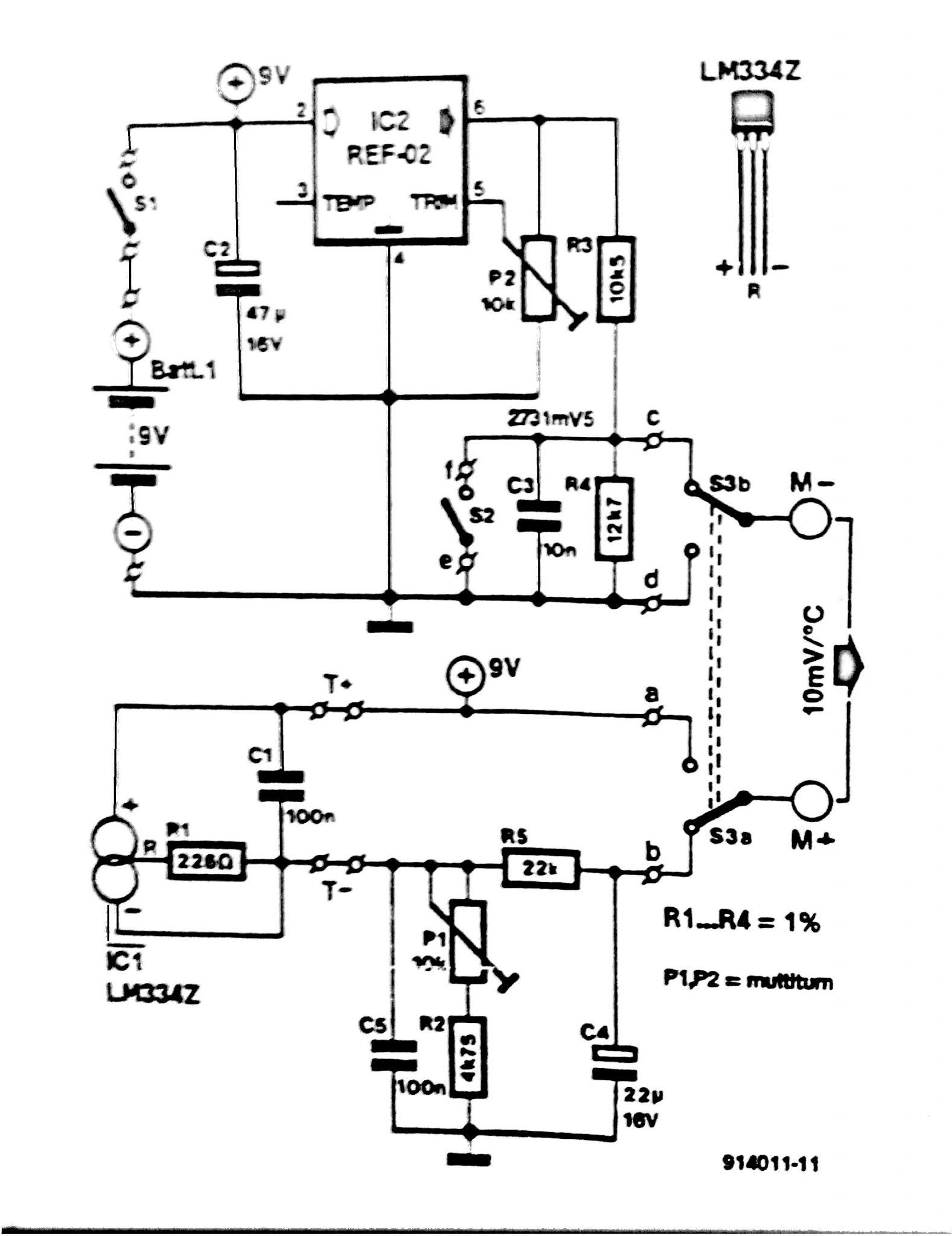 Remote Temperature Sensor For Digital Multimeters Circuit Resistance Detector Sensorcircuit