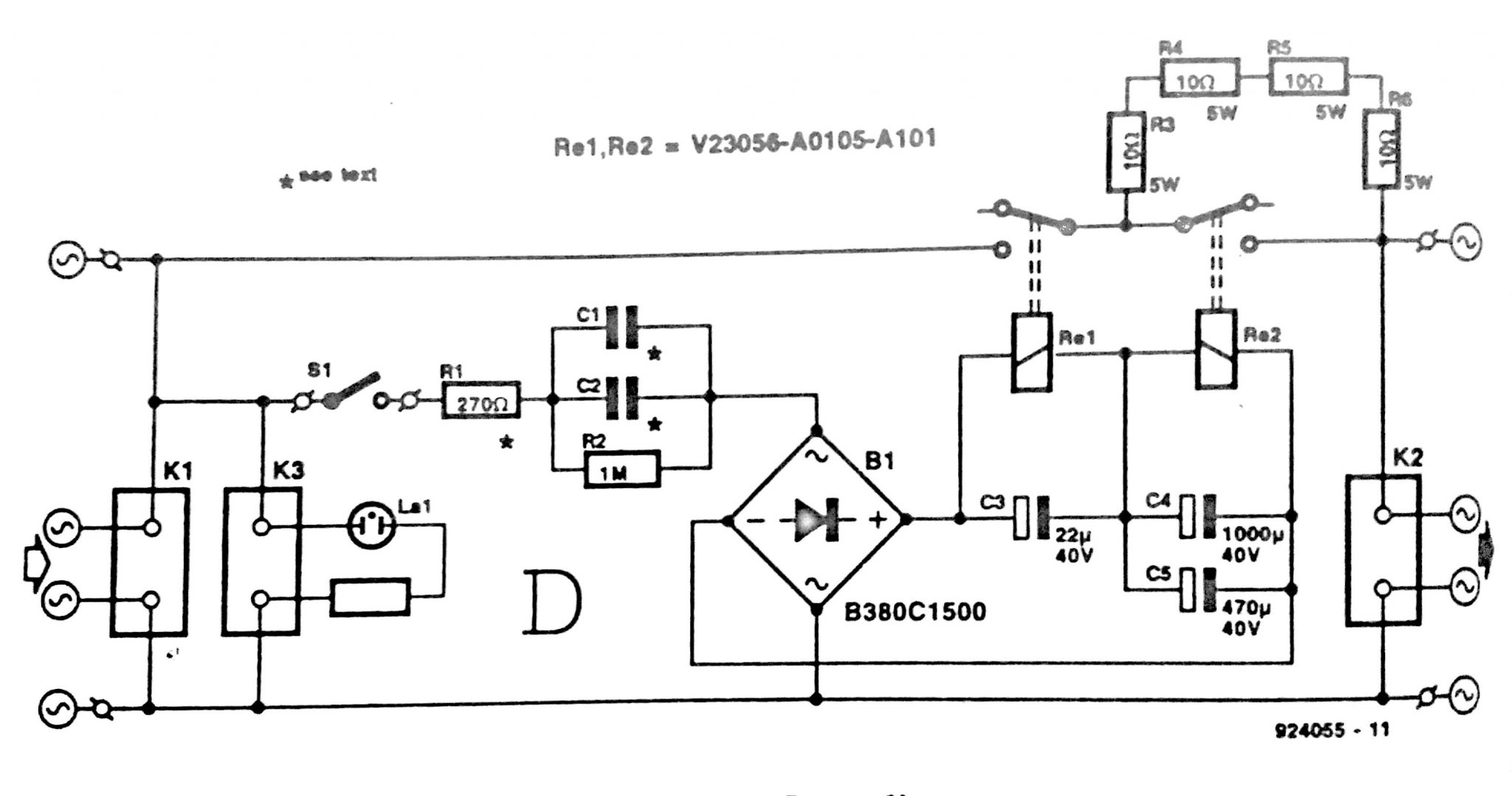 220 V Mains Power On Delay Circuit Diagram Solar Biner Box Wiring
