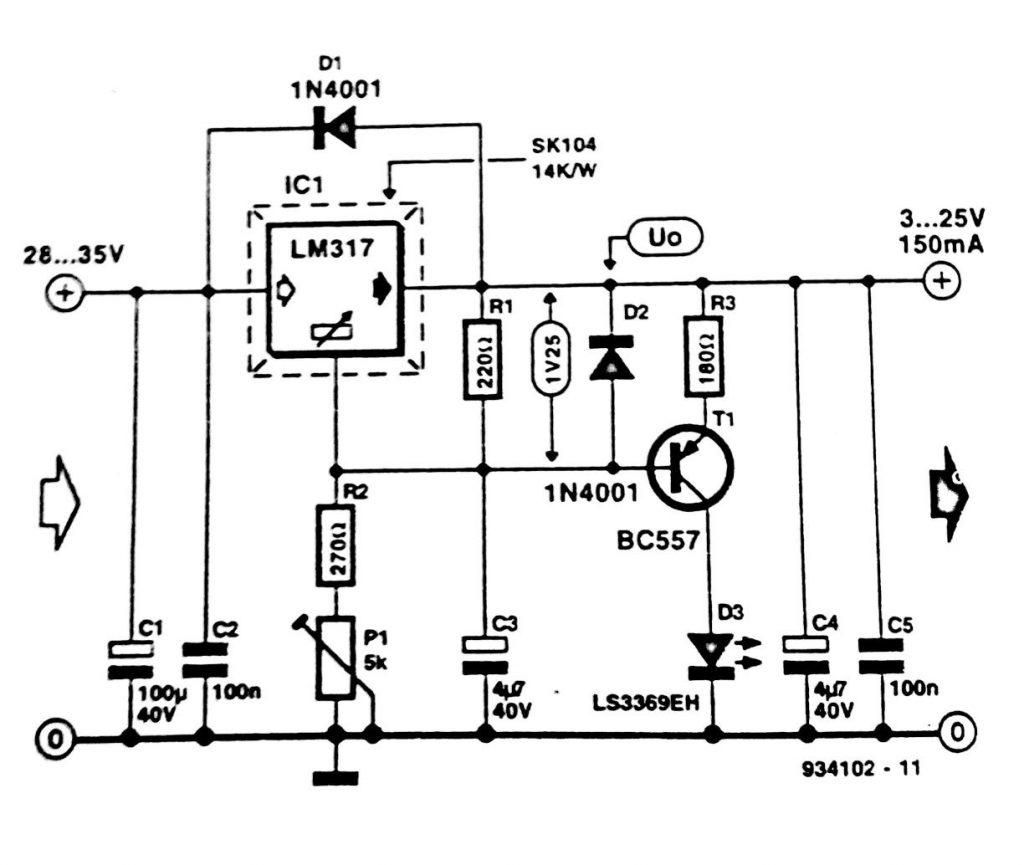 Regulator Short Circuit Indicator Circuit Diagram