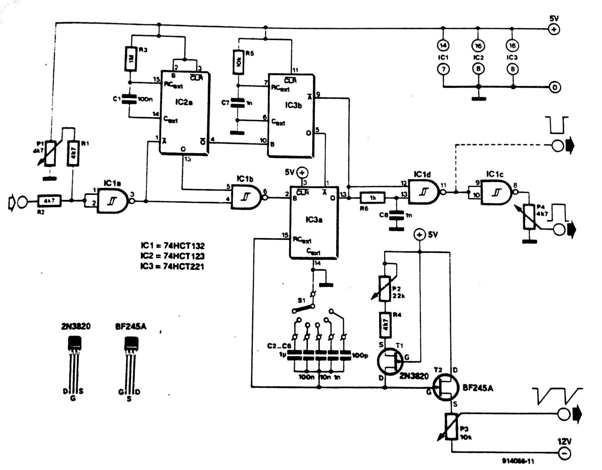 Generator Circuit Diagram Trusted Wiring Diagrams Sawtooth And Pulse Tradeoficcom Triggered Electrical Relay