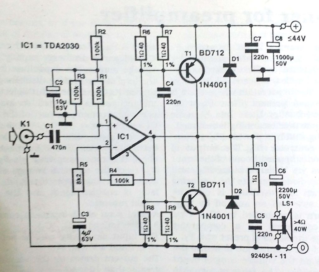 40 W output amplifier