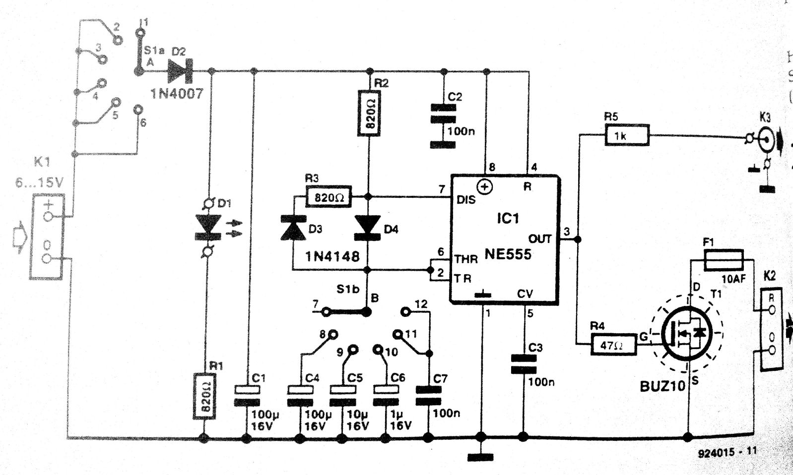 Power Supply Tester 9 Volt Amplifier Circuit Diagram First Select The Load Resistance Of You Wish To Test Say 12 15 W For A V 1 Psu This Resistor Is Connected