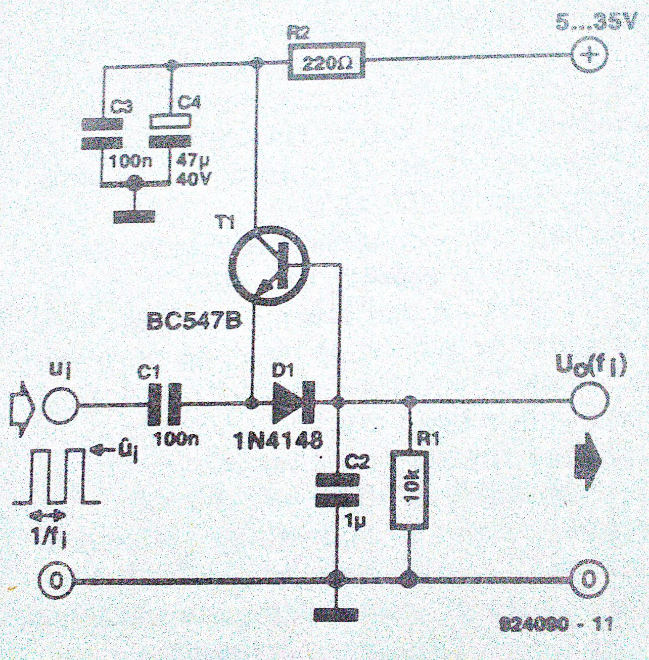 Discrete Frequency Voltage Converter Generator Circuit 555 Tone The Transfer Function Of
