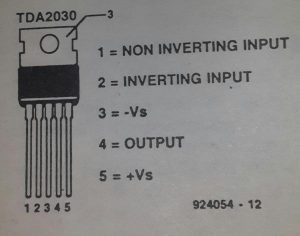 40 W output amplifier d.c.schematic diagram