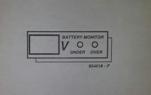 Car battery voltage monitor Schematic diagram