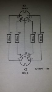 Compressor or limiter Schematic diagram