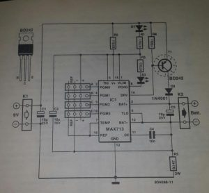 Fast charging of NiCd and NiMH batteries Schematic diagram