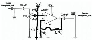 Figure 4: Audio power amplifier circuit.