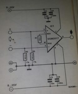 Low-noise amplifier 1 Schematic diagram