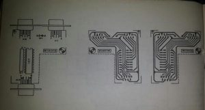 Mouse or joystick switch for Amiga Schematic diagram