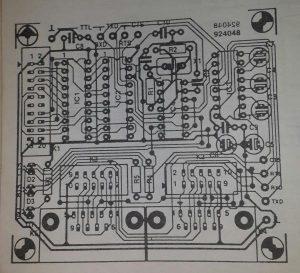 RS232 interface for multi-purpose bus Schematic diagram