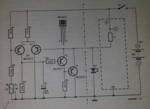 State of battery indicator Schematic diagram