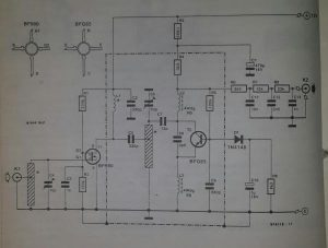 UHF remote control receiver Schematic diagram