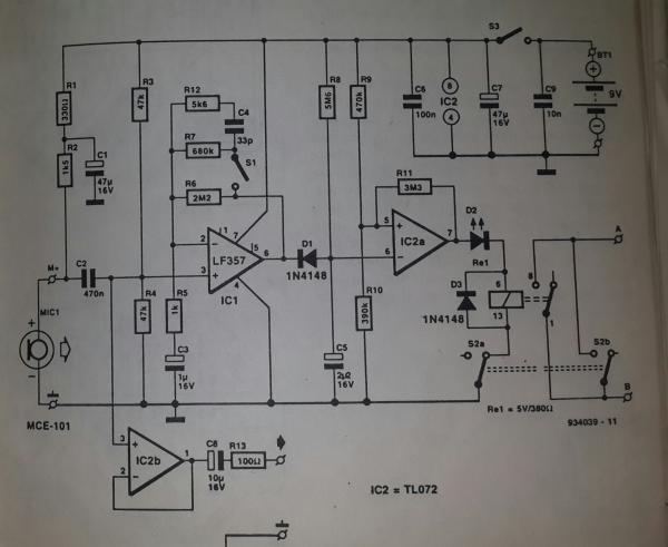 Voice Operated Recording Schematic Diagram