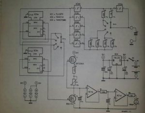 Capacitance meter Schematic diagram