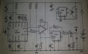 Infra-red a.f. receiver Schematic diagram
