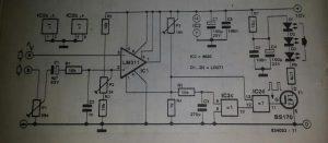 Infra-red transmitter Schematic diagram