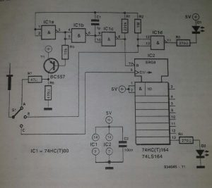 Multi-function test probe Schematic diagram