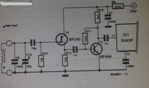 Preamplifier for Kalundborg frequency reference Schematic diagram