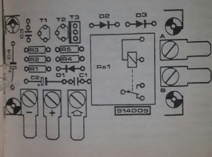 Windscreen wash-wipe circuit Schematic diagram