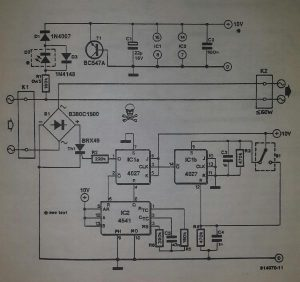 Bedside light timer Schematic diagram