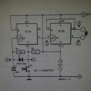 Bounce-free change-over switch Schematic diagram