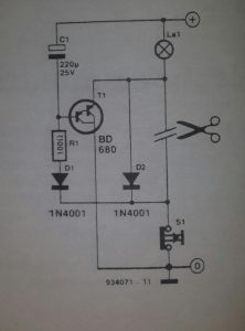 Car interior light delay Schematic diagram