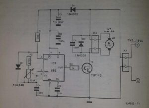 DC-motor regulator Schematic diagram