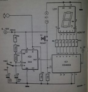 Digital tape counter Schematic diagram