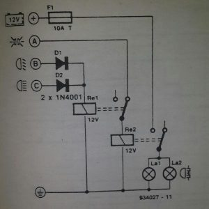 Fog light switching Schematic diagram