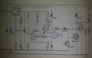 Halogen lamp protector Schematic diagram