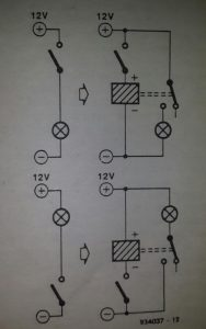 Interior light switch for cars Schematic diagram