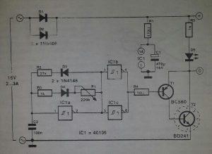 PWM governor Schematic diagram