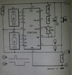 Single-IC timer tubes Schematic diagram