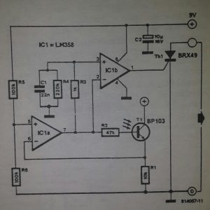 Slave flash trigger Schematic diagram