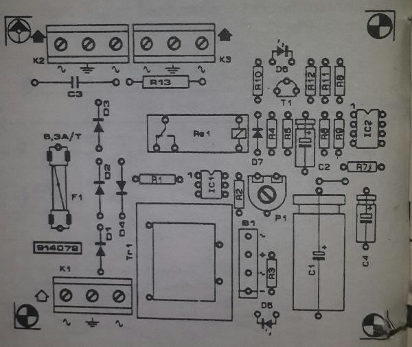 Touch On Off Switch Circuit Diagram