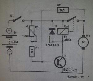 Starter for model aircraft Schematic diagram