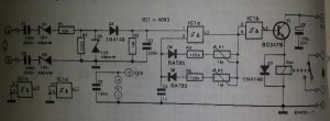 Telephone gong Schematic diagram