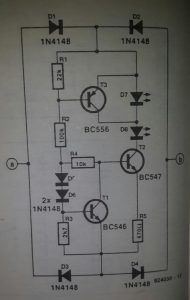 Telephone monitor system Schematic diagram