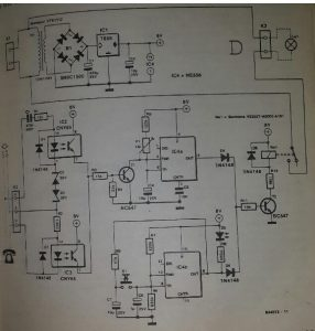 Telephone-operated night light Schematic diagram