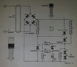 Thyristor starter for fluorescent tubes