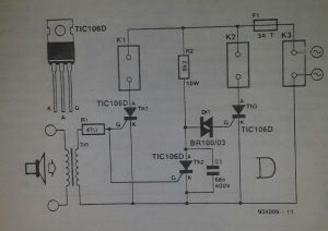 Two-way indicator light Schematic diagram