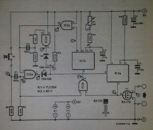 Video camera timer Schematic diagram