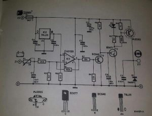 Voltage regulator for cars Schematic diagram
