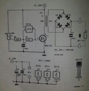 Small power converter Schematic diagram