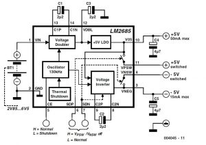 ±5-V Voltage Converter Schematic Circuit Diagram