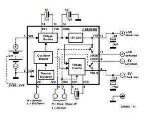 ±5-V Voltage Converter Schematic Diagram