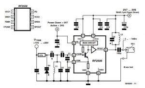 10 to 1000 MHz Oscillator Schematic Diagram